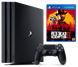 Sony Playstation 4 PRO 1Tb + Red Dead Redemption 2, Черный, 1 ТБ