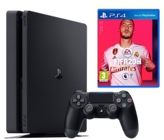 Sony Playstation 4 Slim 500Gb + FIFA 20, Черный, 500 ГБ