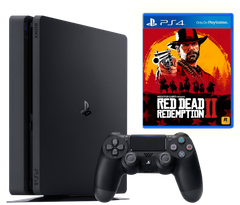 Sony Playstation 4 Slim 500Gb + Red Dead Redemption 2, Черный, 500 ГБ
