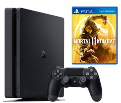 Sony Playstation 4 Slim 500Gb + Mortal Kombat 11, Черный, 500 ГБ
