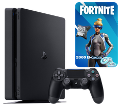 Sony Playstation 4 Slim 500Gb + Fortnite, Черный, 500 ГБ