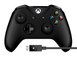 Microsoft Xbox One S Wireless Controller with Cable for Windows (Black)