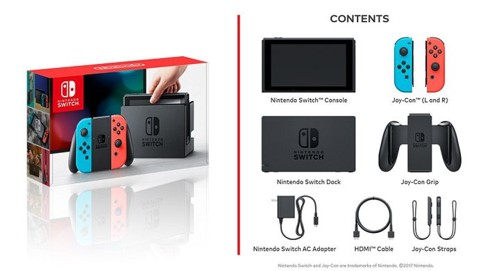 Nintendo Switch (Red/Blue)